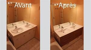 relooker une salle de bains en changeant le meuble With customiser un meuble de salle de bain