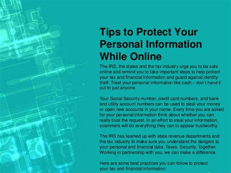 Tips To Protect Your Personal Information While Online