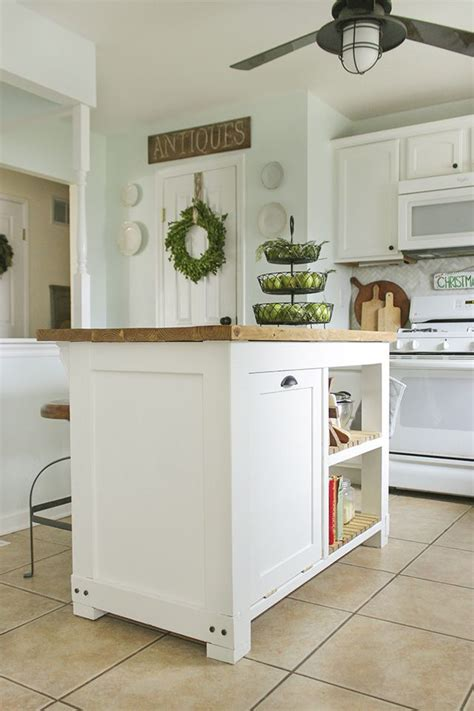 diy kitchen island  trash storage diy kitchen island