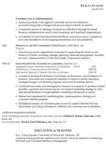 resume example for management position