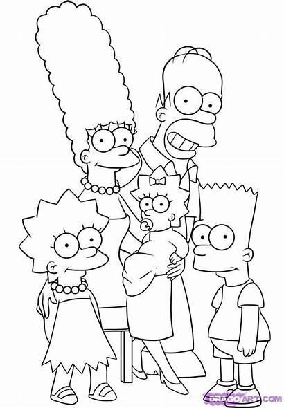 Simpsons Draw Step Drawing Characters Coloring Cartoon