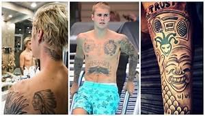 Justin Bieber's Tattoos | 2017 - YouTube