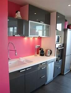 Cuisine Rose Poudré : cuisine rose id es d coration cuisine rose ~ Melissatoandfro.com Idées de Décoration