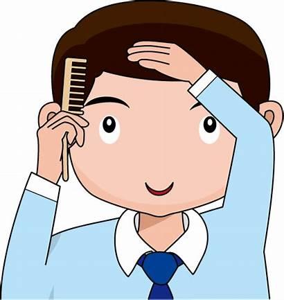 Comb Hair Clipart Brush Combing Boy Kid