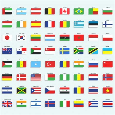 Colección De Iconos De Banderas  Descargar Vectores Gratis