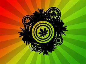 Psychedelic Weed Art Poster