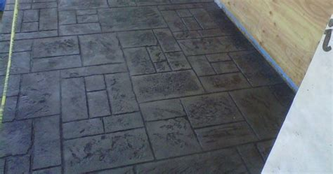 stamped concrete with charcoal release   Google Search