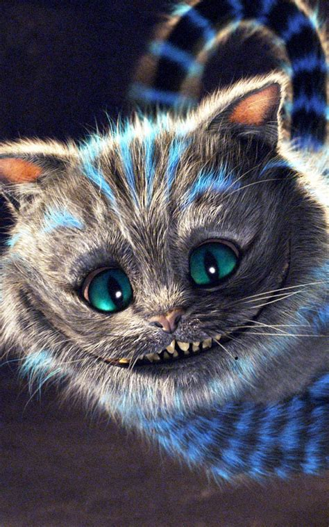 alice  wonderland cheshire cat smile android wallpaper