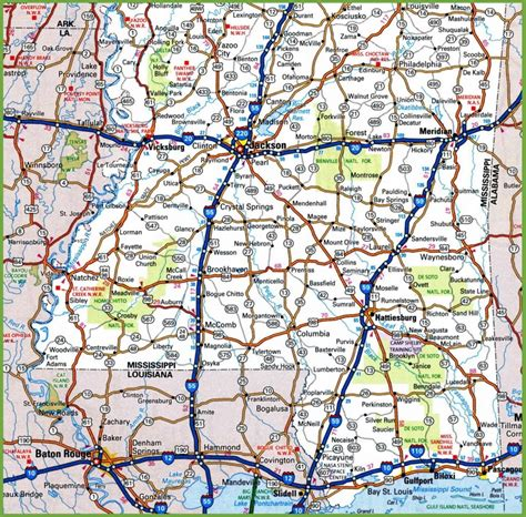 map  southern mississippi