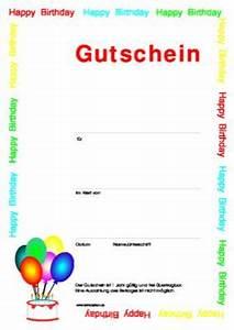 Gutschein Muster Geburtstag : gutschein zum geburtstag vorlage muster zum ausdrucken ~ Markanthonyermac.com Haus und Dekorationen