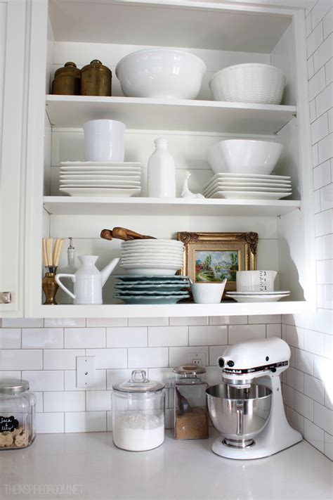 kitchen cabinet shelving ideas my open kitchen shelves fall nesting the inspired room 5761