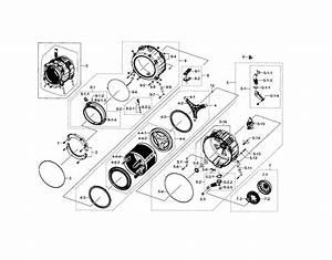 Tub  U0026 Drum Diagram  U0026 Parts List For Model Wf448aapxaa0005