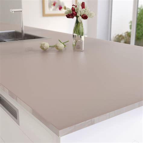 peinture sur stratifié cuisine plan de travail sur mesure verre laqué brun taupe ep 15