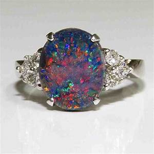 Black opal engagement rings wedding and bridal inspiration for Black opal wedding rings