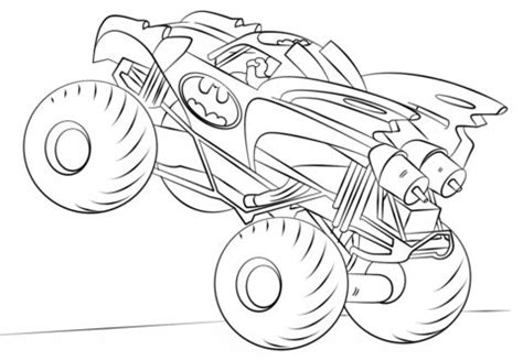 batman monster truck coloring page  monster truck category select   print