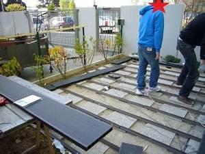Lame Composite Pour Terrasse Leroy Merlin : terrasse en lames composite bricolage maison ~ Zukunftsfamilie.com Idées de Décoration