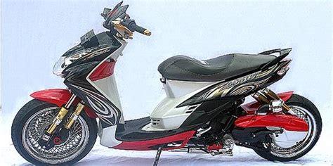 Modifikasi Mio Soul by Modifikasi Yamaha Mio Soul Low Rider 8 Sokbreker