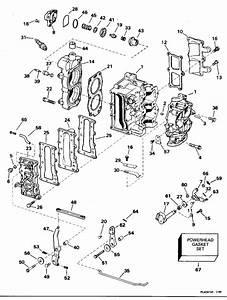 Evinrude Cylinder  U0026 Crankcase Parts For 1995 9 9hp