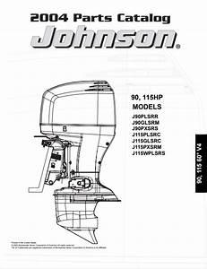 2004 Johnson Evinrude 90  115hp Parts Catalog Manual