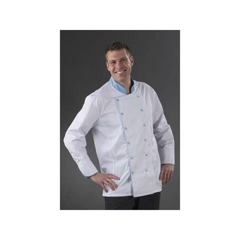 veste de cuisine karl boutonnage ciel my tablier cuisine