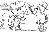 Camel Caravan Coloring Pages Desert Drawing Egypt Camels Egyptian Printable Pyramids Scene Template Colouring Sketch Animal Printables Sahara Getdrawings Transport sketch template