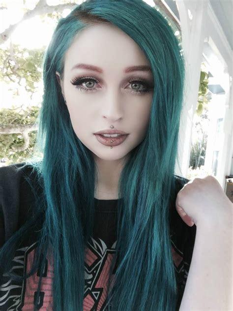 teal hair  tumblr