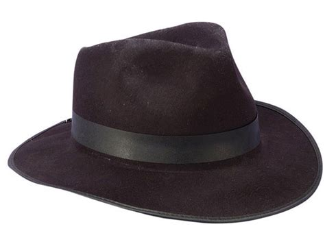 Black Felt Fedora Gangster Hat