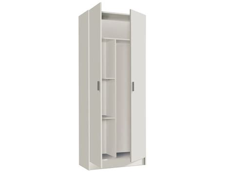 A placard is a large notice that is carried in a march or displayed in a public place. Armoire Rangement Nettoyage 2 Portes En Melamine Coloris Blanc