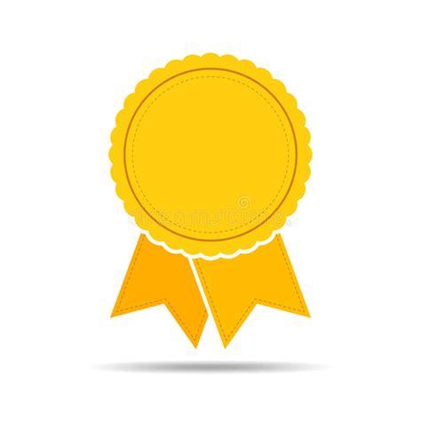14764 award ribbon icon vector yellow medal icon with ribbon vector illustration stock