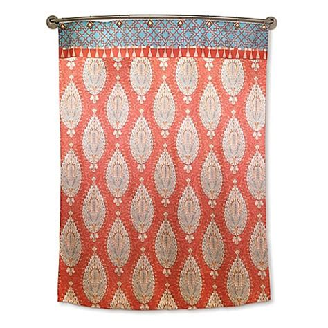 rust shower curtain dena home kaiya shower curtain in rust bed bath beyond