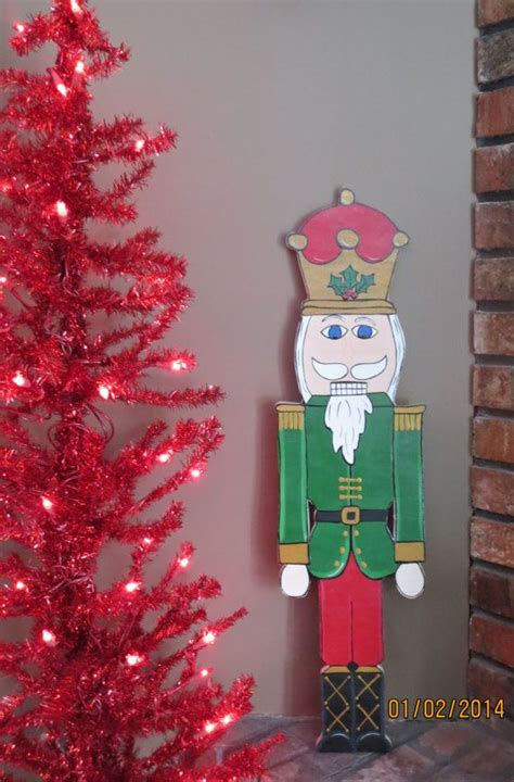 christmas soldier steps to drawyard sign outdoor nutcracker wood outdoor yard lawn ornament nutcrackers and