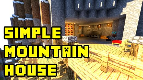 minecraft simple mountain cliff cave house tutorial xboxpepcpsps youtube