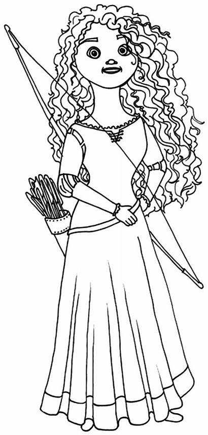 Merida Coloring Pages Princess Doll Queen Horse