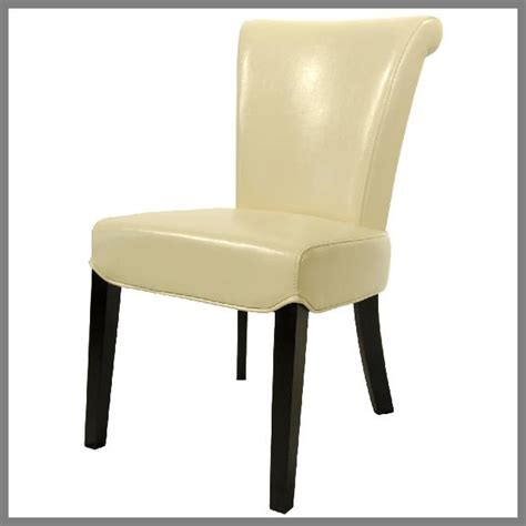 beige leather dining chairs chair pads cushions