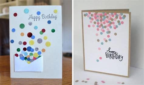geburtstagskarte basteln einfach selbstgemachte geburtstagskarten mit einfacher dekoration