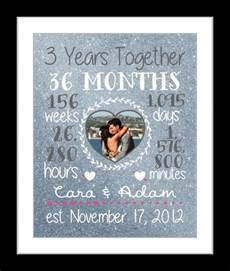 3rd wedding anniversary gifts 25 best ideas about 3 year anniversary on anniversary gifts 1 year anniversary