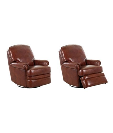 leather swivel glider recliner chair club furniture
