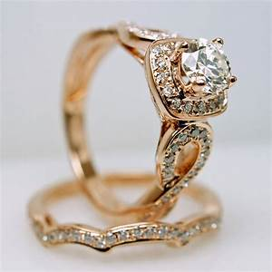 elegant performance with the vintage engagement ring With vintage engagement ring and wedding band