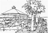 Boardwalk Drawings Drawing sketch template