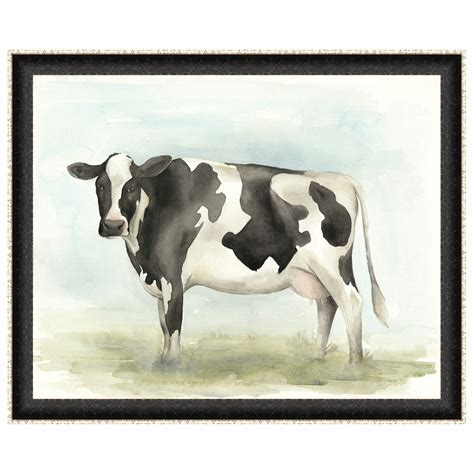 Watercolor Cow II Framed Print