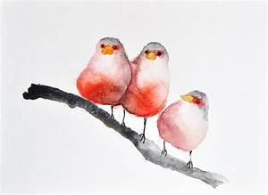 Abstract Watercolor Birds