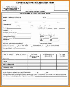 13 free printable job application form emails sample With free downloadable employment application template