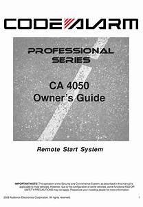 Code Alarm Professional Series Ca 4050 Owner U0026 39 S Manual Pdf
