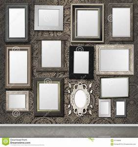 The Photo Frame On The Wall Stock Illustration ...