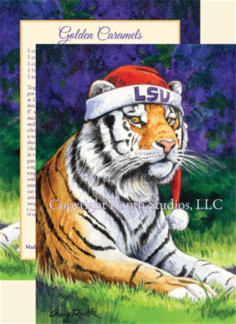 lsu christmas cards mike  tiger artist craig  routh