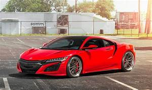 Acura NSX gets a killer look after wearing Curva Red paint ...