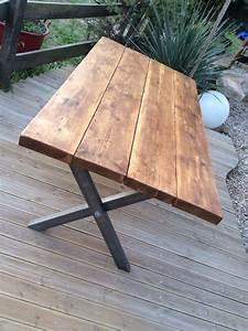 Pied De Table Bois : table manger bois massif pais sur pieds en x finition ~ Melissatoandfro.com Idées de Décoration
