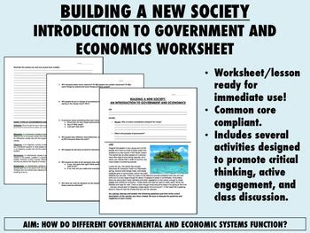 building a new society worksheet intro to government and