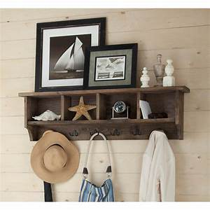 Alaterre, Furniture, Pomona, 48, In, Metal, And, Reclaimed, Wood, Entryway, Coat, Hook, With, Storage