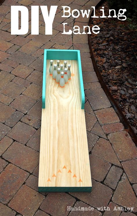 diy bowling lane tutorial handmade  ashley